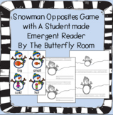 Snowman Opposites game with Emergent Reader