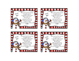 Snowman Ornament Tags FREEBIE