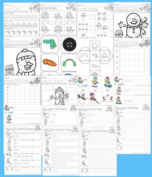 Snowman Pack for PreK & Kindergarten