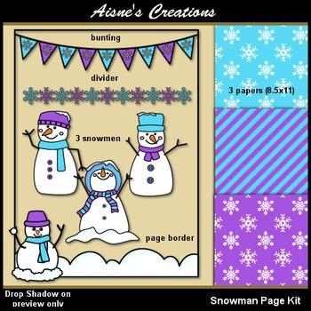Snowman Page Kit