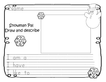 Snowman Pal Writing