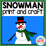 Snowman Craft Activity and Creative Writing