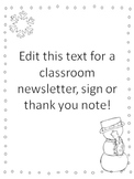 Snowman Paper for Notes or Newsletters~ Editable {Freebie}