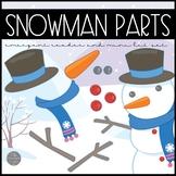 Snowman Parts Emergent Reader and Mini Literacy Set