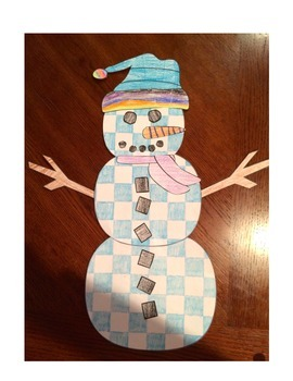 Snowman Pattern Coloring Craftivity