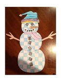 Snowman Pattern Coloring Craftivity