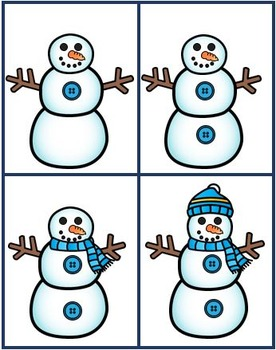 Snowman Pattern and Sequence Task