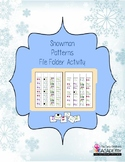 Snowman Patterns File Folder Activity