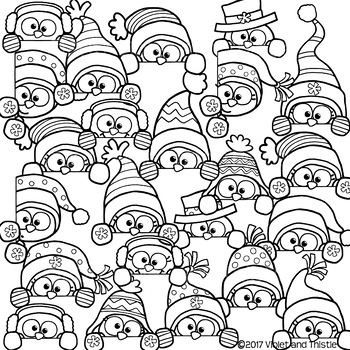 Cute Snowman Page Topper Peeking Snowmen Faces Peekers Winter Clipart Clip Art