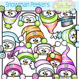 Cute Snowman Page Topper Peeking Snowmen Faces Peekers Win