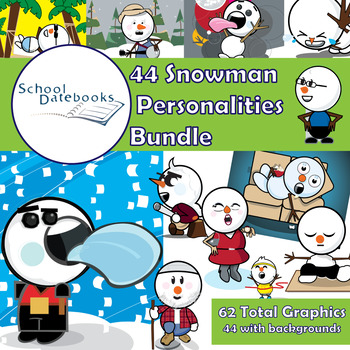 Snowman Personalities Graphics Bundle