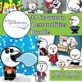 Snowman Personalities Graphics Bundle