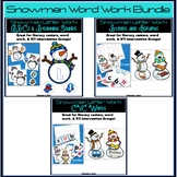 Snowman Phonics and Decoding Word Work Bundle
