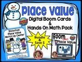Snowman Place Value Center with Boom Cards Bundle