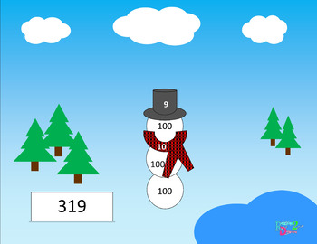 Snowman Place Value Game