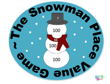Snowman Place Value Game