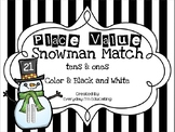 Snowman Place Value Match