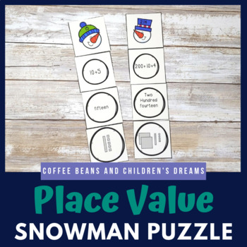 Snowman Place Value Puzzle