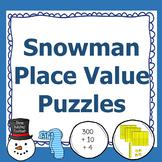 Snowman Place Value Puzzles