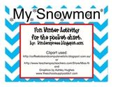Snowman Pocket  Chart Reading Activity