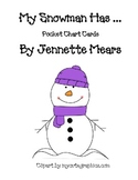 Snowman Pocket chart sentences..