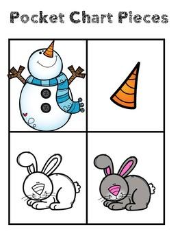 Snowman Poem, Emergent Reader, Pocket Chart pieces
