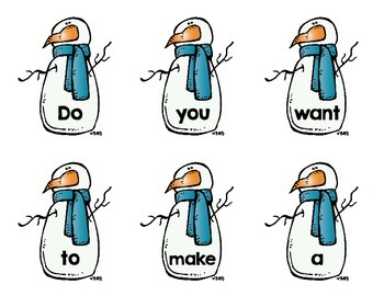 Snowman Poem & Word Work Activity- 'Let's Make a Snowman!'