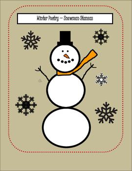 Poetry Poem Winter Activity (Stanza Activity - January)