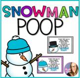Snowman Poop Poem Cards