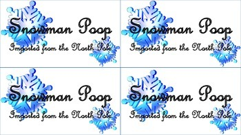 Snowman Poop - Treat Topper