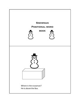 Snowman Positional word book