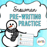 Snowman Pre-Writing Practice