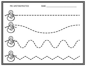 Snowman Pre-Writing Practice