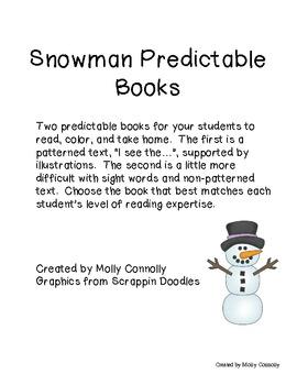 Snowman Predictable Books