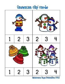 Snowman Prek Printable Pack - Part 2