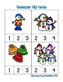 Snowman Prek Printable Pack - Part 2