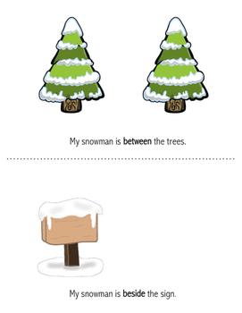 Snowman Preposition Book Activity
