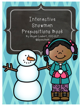 Snowman Preposition Book Activity