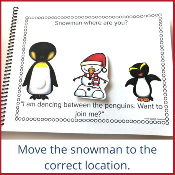 Snowman Preposition Interactive Book