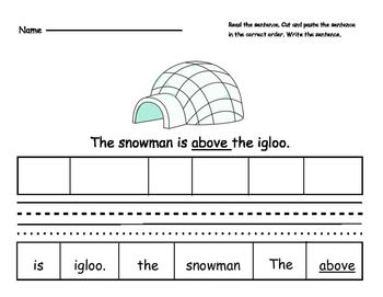 Snowman Prepositions