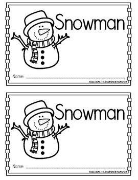Snowman Printable Book {Sight Words & Color Words}