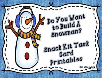 Snowman Printables- Do You Want to Build a Snowman Kit?