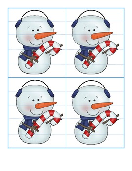 Snowman Puzzlers - An Activity for Reading Two-Syllable Words