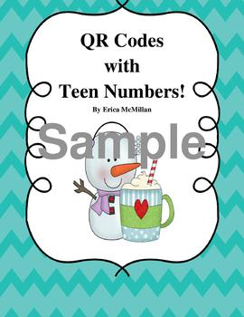 Snowman QR Codes With Teen Numbers