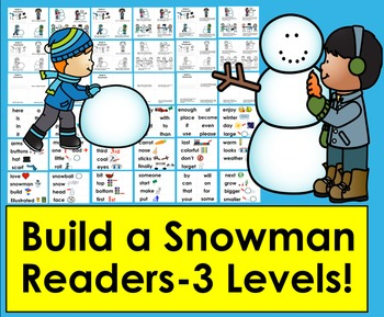 Winter Differentiated Readers:  Build A Snowman