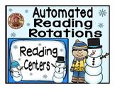 Reading Center Rotations Editable Powerpoint Snowman Design
