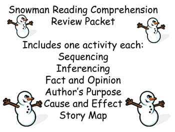 Snowman Reading Comprehension