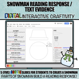 Snowman Reading Response / Text Evidence DIGITAL Winter Cr