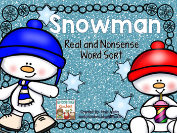 Snowman Real and Nonsense Word Sort