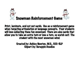 Snowman Reinforcement Game